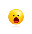 emoji smile icon symbol speechless face yellow vector image vector image