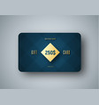 emplate of a premium gift card with a gold vector image