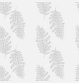 fern frond silhouettes on gray background vector image vector image