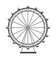 ferris wheel recreation adventure landmark vector image