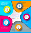 five circles with business icon infographics on vector image vector image