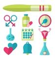 Flat design set of fertility icons vector image