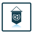 Football pennant icon vector image vector image