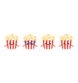 funny cartoon popcorn characters set collection vector image vector image
