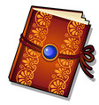 gift decorated book with golden florid ornament vector image vector image