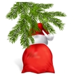 Gifts from Santa Claus under the Christmas tree vector image vector image