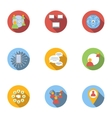 Global internet icons set flat style vector image vector image