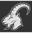goat symbol logo for dark background vector image