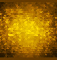 gold bright background with triangle shapes vector image