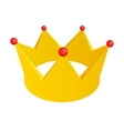 Golden crown isometric 3d icon vector image