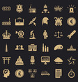 goverment icons set simple style vector image vector image