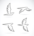 Group of an eagle design vector image vector image