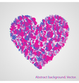 heart with a pattern on a light background vector image vector image