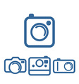 Hipsters photo camera icons vector image
