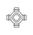 hub line icon concept hub linear vector image vector image