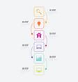 infographics 6 options vector image vector image
