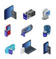 isometric electronic gadgets set vector image