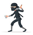 japan secret ninja assassin japanese sword cartoon vector image