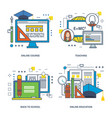 learning online education learning technologies vector image vector image