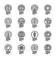 lightbulb thin line icon set editable stroke vector image