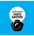 logo camera photographer vector image