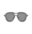 louvered sunglasses linear icon vector image