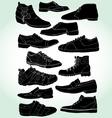 men shoes negative vector image