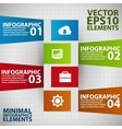 Minimal infographics vector image vector image