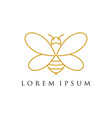 minimalist and luxury bee logo design line art vector image