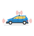 modern self driving car vector image vector image