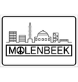 Molenbeek text with buildings outline vector image vector image