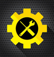 Object tool icon Wrench with Screwdriver on a vector image