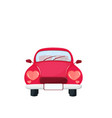 old retro car with heart shaped headlights vector image vector image