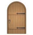 old wooden arch door vector image vector image