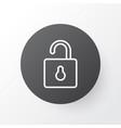 open lock icon symbol premium quality isolated vector image vector image