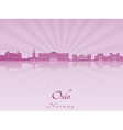 Oslo skyline in purple radiant orchid vector image vector image
