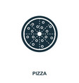 pizza icon mobile apps printing and more usage vector image