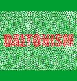 red inscription on a green background daltonism vector image