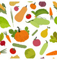 seamless pattern with vegetables in a flat style vector image