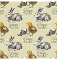 Seamless with chick and rabbit vector | Price: 3 Credits (USD $3)