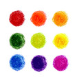 set crayon scribble texture stain isolated on vector image vector image
