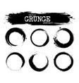 set of abstract grunge circle shapes vector image vector image