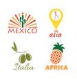 set of international food vector image vector image