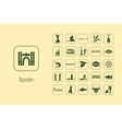 Set of Spain simple icons vector image