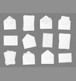 set of various blank white paper vector image vector image