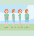 set woman training exercise to healthy lifestyle vector image