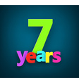 Seven years paper sign vector image