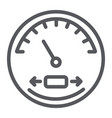 speedometer line icon automobile and panel vector image
