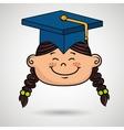 student graduation cap icon vector image