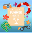 summer time background with text vector image vector image